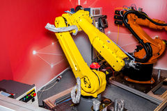 Industrial robot Royalty Free Stock Image
