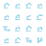 Industrial robot line icons Royalty Free Stock Image