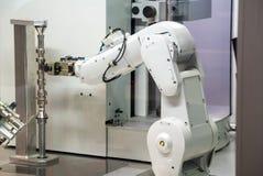Industrial robot machine Royalty Free Stock Photos