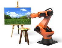 Industrial robot painting Stock Photography