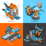 Industrial robot set Stock Photography