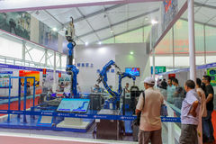 Industrial robot show Stock Photos