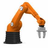 Industrial robotic arm Royalty Free Stock Photos