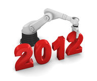 Industrial robotic arm building 2012 year Stock Photography