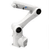 Industrial robotic arm  on white 3D Illustration Stock Photo