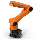 Industrial robotic arm  on white 3D Illustration Royalty Free Stock Photos