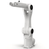 Industrial robotic arm  on white 3D Illustration Royalty Free Stock Image