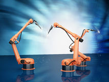 Industrial Robotic Arms Royalty Free Stock Image