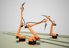 Industrial Robotic Arms Royalty Free Stock Photo