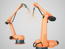 Industrial Robotic Arms Stock Photos