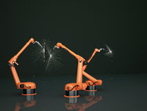 Industrial Robotic Arms Royalty Free Stock Photos