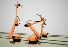 Industrial Robotic Arms Stock Photography