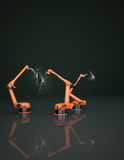 Industrial Robotic Arms Stock Image