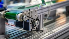 Industrial Robotic Machinery In Manufacturing Line royalty free stock photo