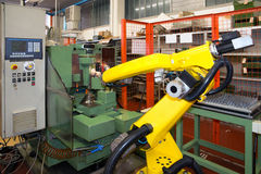 Industrial Robots - Automation lines Royalty Free Stock Image