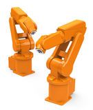 Industrial robots Stock Image