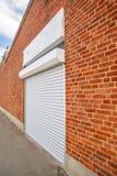 Industrial Roll Shutter Garage Door Stock Photo