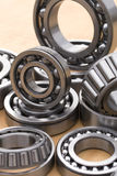 Industrial roller bearings. A close up view of a variety of different heavy duty industrial roller bearings Stock Photography