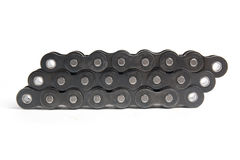 Industrial roller chain. Isolated on a white background Royalty Free Stock Images