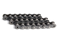 Industrial roller chain Royalty Free Stock Photography