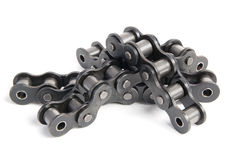 Industrial roller chain Royalty Free Stock Images