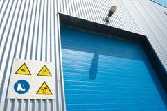 Industrial roller doors stock photos
