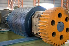 Industrial Roller at a Foundry Royalty Free Stock Images