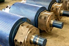 Industrial Rollers at a Foundry Stock Photos