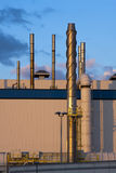 Industrial Rooftop Stacks Stock Photos