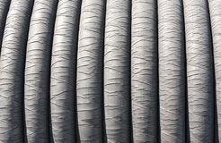 Industrial rubber rope closeup Royalty Free Stock Photos