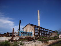 Industrial ruin. Only ruins are left of an old plant Royalty Free Stock Photo