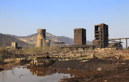 Industrial ruins Royalty Free Stock Photography