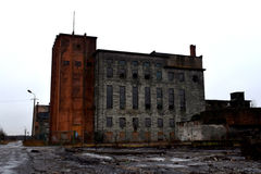 Industrial ruins, USSR heritage Royalty Free Stock Photos