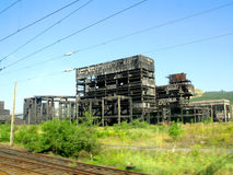 Industrial ruins Stock Photography
