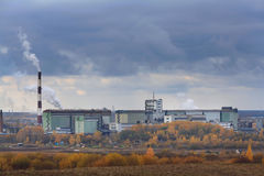 Industrial russian autmn cityscape Royalty Free Stock Image