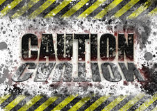 Industrial safety caution sign Stock Photography