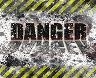 Industrial safety danger sign Stock Images