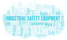 Industrial Safety Equipment word cloud. Word cloud made with text only vector illustration