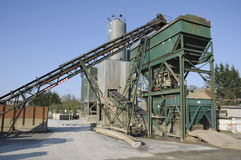 Industrial sand and cement mixer Stock Photo