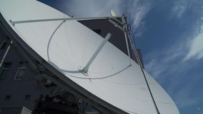 Industrial satellite dishe clsose up.  stock video