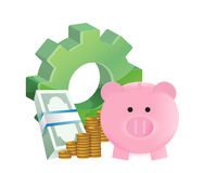 Industrial savings. Illustration design over a white background Royalty Free Stock Photos