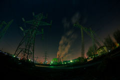Industrial scape at night Royalty Free Stock Photography