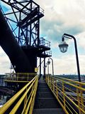 Industrial scene with lamp. Abonded industrial scene with lamp in Ostrava, Czch republic Royalty Free Stock Photography