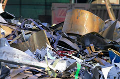 Industrial scrap. Industrial metallic scrap ready to be recycled Stock Image