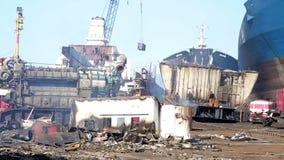 Industrial scrapyard stock video