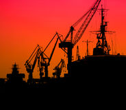 Industrial Sea Port Royalty Free Stock Photos