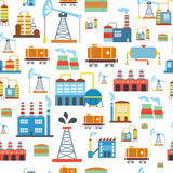 Industrial seamless pattern with oil and petrol Stock Photography