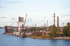 Industrial seaport Stock Photography