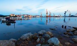 Industrial seaport of Maliano. Santander, Spain Stock Photography
