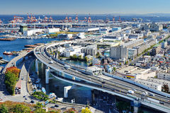 Industrial section of Yokohama, Japan royalty free stock images